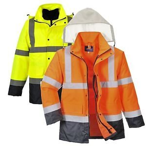 Hi-Vis 4-in-1 Contrast Traffic Jacket (S471)